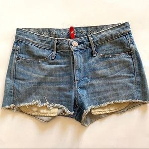 Earnest Sewn Light Wash Denim shorts